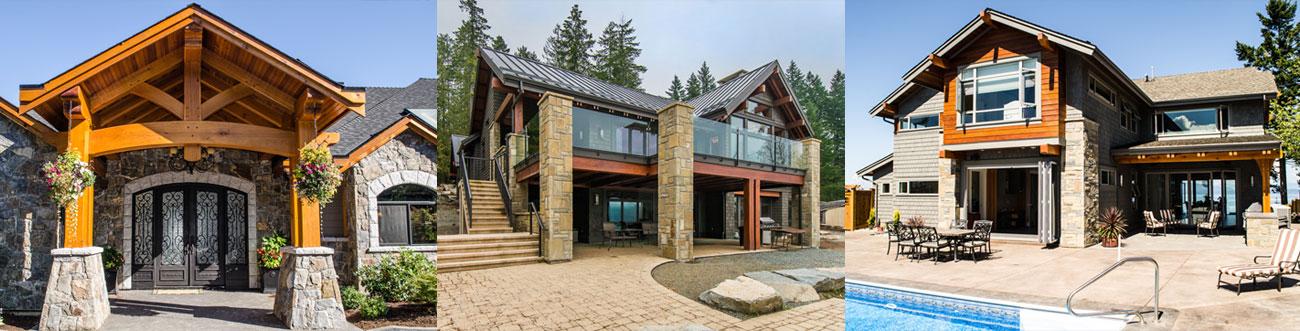 Vancouver Island Timber Frame Home Photos