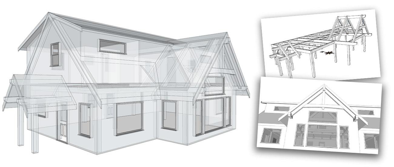 Vancouver Island Timber Frame Home Designs