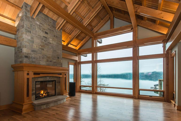 Sproat lake timber frame home pickles timber frames for Timberframe house